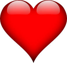 heart love red free vector graphic on