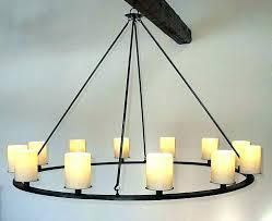 rustic candle chandelier pillar round