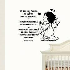Wall Decal Bible Scripture Salmos 91 9 11 Vinilo Decorativo Christian Decor Ebay