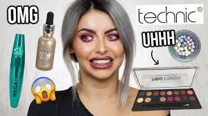 testing technic makeup full face