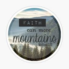 Faith Move Mountains Stickers Redbubble