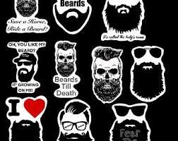 Beard Sticker Etsy