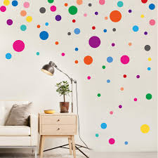 Amazon Com Parlaim Wall Stickers For Bedroom Living Room Polka Dot Wall Decals For Kids Boys And Girls 130 Circles Furniture Decor