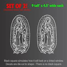 Virgin Mary Guadalupe Setof2 Decals Stickers 4 5 X9 Ebay