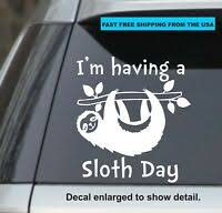 Just Hanging Out Sloth Vinyl Decal Sticker Car Laptop Yeti Window Bumper Ebay