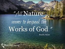 all nature bespeaks the works of god real imprints