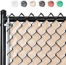 Amazon Com Fenpro Chain Link Fence Privacy Tape Desert Tan Garden Outdoor