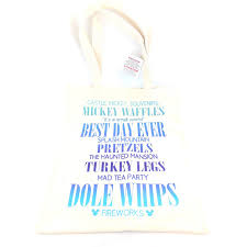 disney tote bag best day ever magic kingdom quotes