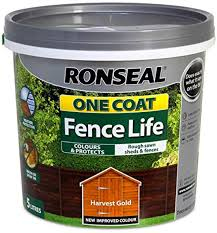 Ronseal Rslocflhg5l One Coat Fence Life Gold 5 Litre Amazon Co Uk Diy Tools