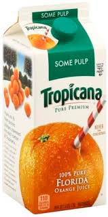 tropicana orange some pulp 100 juice