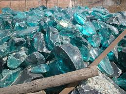 colored glass landscaping rock