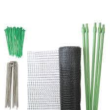 Tenax Deer Net Folded Diy Deer Fence Kit 7 X 100 Black 2a130002 Tenax Fence