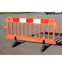 Safety Barriers Avalon Pedestrian Utility Construction Safety Plastic Barrier Orange 2m