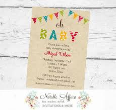 oh baby bunting baby shower polka dots