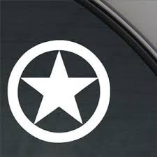 Star Ww2 Star Style1 War Star 5 Color White Vinyl Decal Window Sticker For Cars Trucks Windows Walls Laptops And Other Stuff 0 On Star Wars
