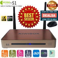 Bán Android Tivi Box Ultra HD Kiwi S1 tặng kèm Chuột Không Dây Forter V181