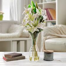 tall glass vase artificial fl
