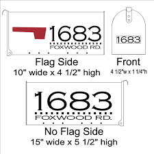 Lowest Prices On Custom Mailbox Lettering Box Line Decals