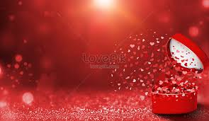 red wedding box background creative