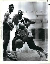 1989 Press Photo Byron Campbell, All-Stars' Byron Campbell, AAU ...