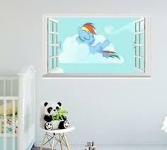 My Little Pony Mlp Rainbow Dash Removable 3d Window Wall Sticker Art Decals Kids Ebay