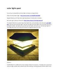 Solar Lights Post