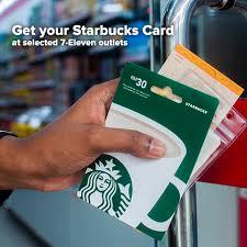 starbucks card preloaded at 7 eleven