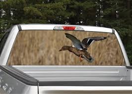 Duck Flying Rear Window Graphic Decal Truck Suv Perforated Etsy