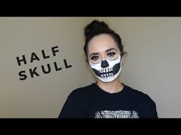 half skull beauty makeup