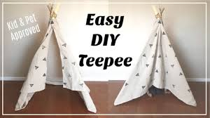 Easy Diy Teepee No Sew Kids Room Decor Momma From Scratch Youtube