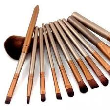 makeup brushes in steel box
