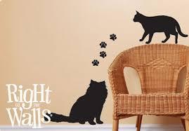 Kitten Cat Silhouette Animal Wall Decals Vinyl Art Stickers Veterinarian