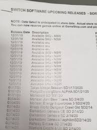 GameStop's internal database listing new round of mystery SKUs for ...