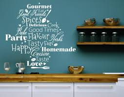 Kitchen Words Kitchen Wall Decals Sticker Mural Vinyl Art Home Decor Contemporary Wall Decals By Style And Apply