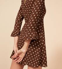 reformation synthetic finch dress in