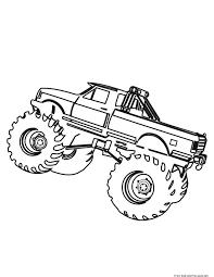 Printable Monster Truck Coloring Pages For Kids Kleurplaten