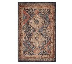 blue multi mahalia printed rug