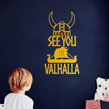 See You In Valhalla Viking Warrior Decal Sticker Car Window Decor Helmet Norse Nordic Dragon Ship Laptop Decals Decoration Wall Stickers Aliexpress