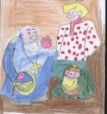 Как нарисовать сказку о попе и работнике его балде карандашом и поэтапно?