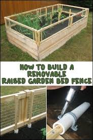 Grow And Protect Your Produce With A Removable Raised Garden Bed Fence Building A Raised Garden Diy Raised Garden Vegetable Garden Raised Beds