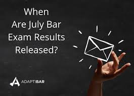 when are july bar exam results released