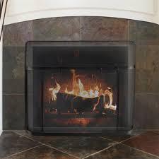 x 31 in black fireplace screen guard