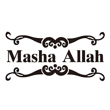 Fashion Masha Allah Art Design Car Sticker Islamic Styling Decal For Laptop Window Muslim Pattern Car Styling Stickers Size 30 15 Cm Wish