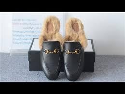 best quality gucci princetown fur