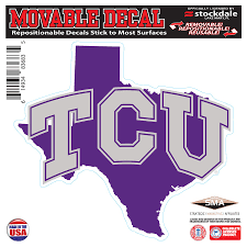 Tcu Horned Frogs 6 X 6 Repositionable State Shape Decal