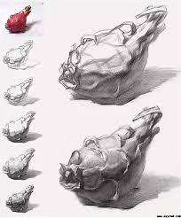 火龙果素描步骤图,素描火龙果画法_精品素描自学网
