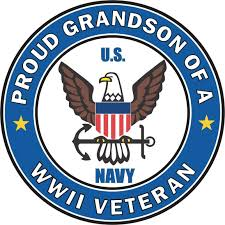 Amazon Com Proud Grandson Of A Us Navy World War Ii Veteran Window Car Bumper Sticker Vinyl Decal 3 8 Automotive