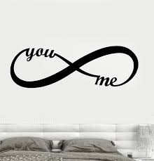 Wall Decal You Me Love Romance Infinity Couple Vinyl Sticker Ed1724 Wallstickers4you