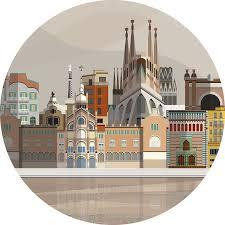 Skylines Barcelona Location Sticker Tenstickers