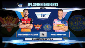 SRH VS RR IPL 2019 HIGHLIGHTS II ...